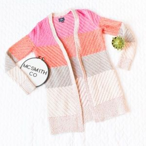 AEO | Chunky Knit Color Blocked Cardigan Sweater